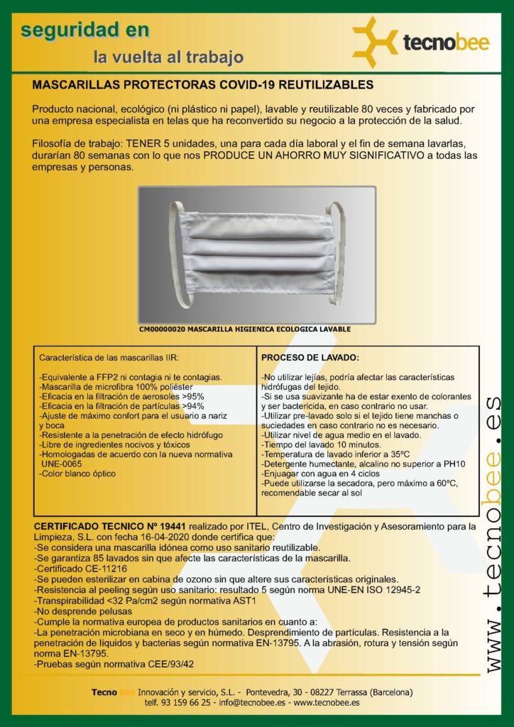 Mascarilla lavable reutilizable, no contagias ni te contagian!
